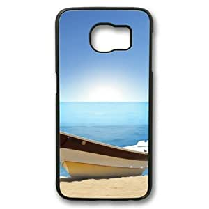 Blue Beach Scenery-1 Samsung Galaxy S6 Edge Case,Customized Hard Shell PC Black Case for Samsung Galaxy S6 Edge,Galaxy S6 Edge Case by icecream design