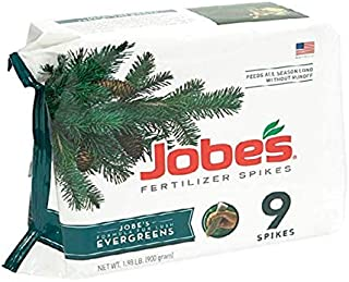 product image for Jobe's Evergreen Fertilizer Spikes 11-3-4 Time Release Fertilizer for Juniper, Spruce, Cypress and All Other Evergreen Trees, 9 Spikes per Package- Pack of 2