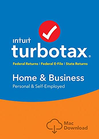 TurboTax Home & Business 2016 Tax Software Federal & State + Fed Efile Mac download [Amazon (Business Taxes Software)
