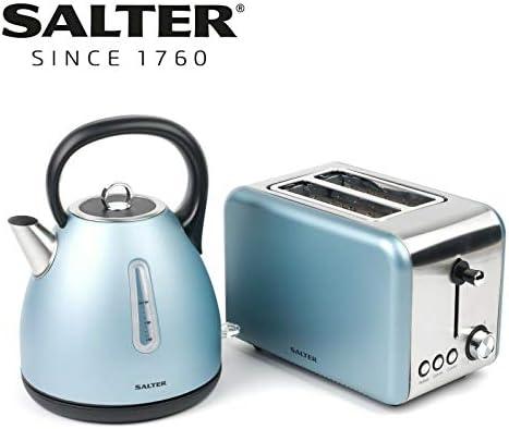 Defrost//Reheat Functions Salter EK2652BLUE Metallics Polaris 2-Slice Toaster Variable Browning Pearl Blue Edition 850 W Wider Slots