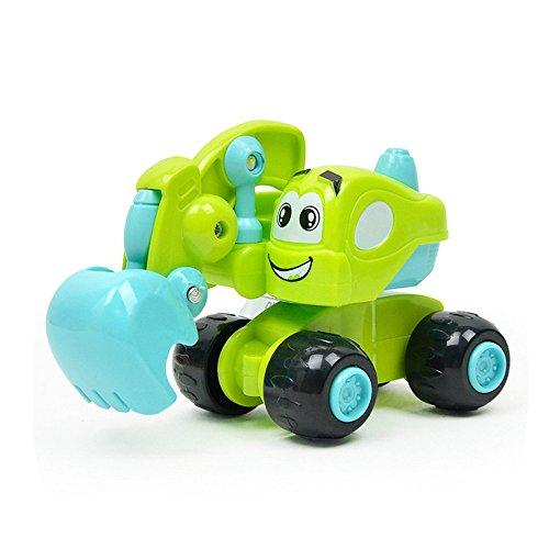wist Forward Movement Clockwork Spring Engineering Animal Vehicles Gift for Kid Boys Girls ()
