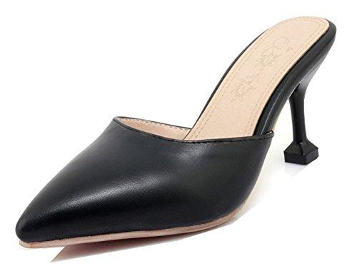 Sandali A Punta A Punta Chiusa Da Donna Aisun - Sexy Scarpe Con I Tacchi A Spillo - High Heel Party Evening Black