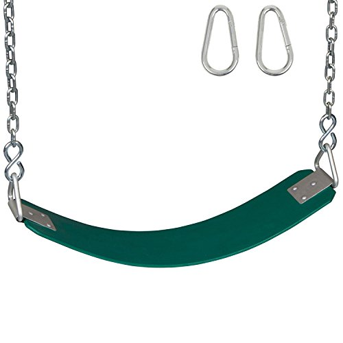 Swing Set Stuff Inc. Commercial Rubber Belt Seat Chains and Hooks Sss Logo Sticker, Green -