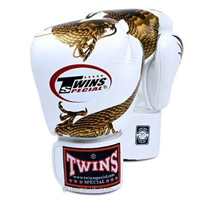 Twins Fancy Special-Guanti da boxe, 12 oz, Dragone in Velcro ai polsi.