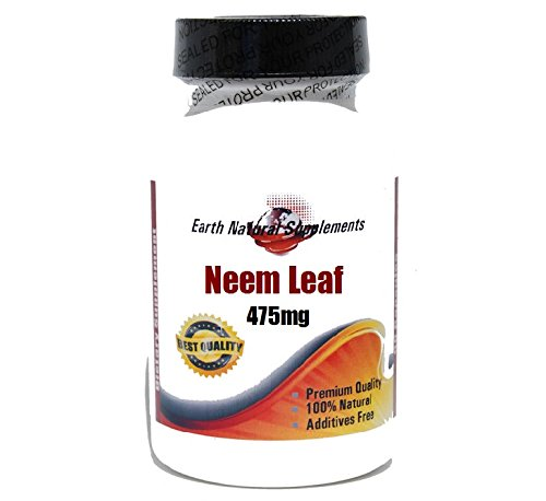 (Neem Leaf 475mg * 200 Capsules 100 % Natural - by EarhNaturalSupplements)