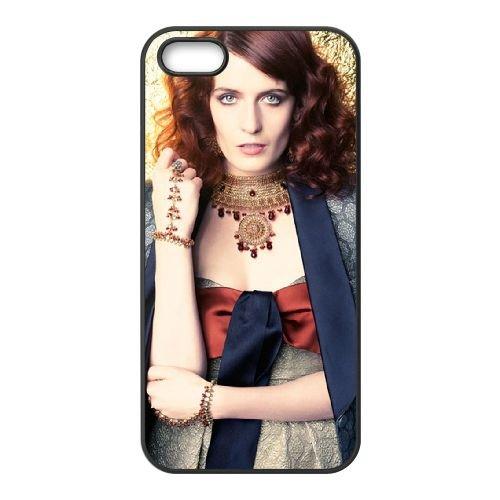 Florence + The Machine 004 coque iPhone 4 4S cellulaire cas coque de téléphone cas téléphone cellulaire noir couvercle EEEXLKNBC25074