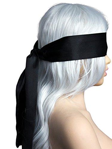FasiCat Sexy Eye Mask Blindfold Cover Black Band Blinder for Sex for Women Black