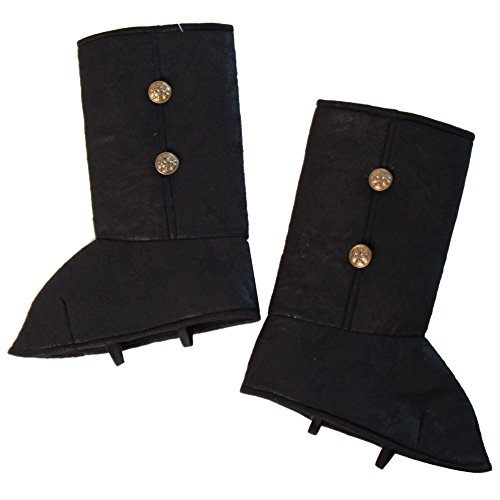 Storybook Wishes Boys Costume Black Boot Tops for Pirate, Knight, etc. Medium (Kids Black Pirate Boots)