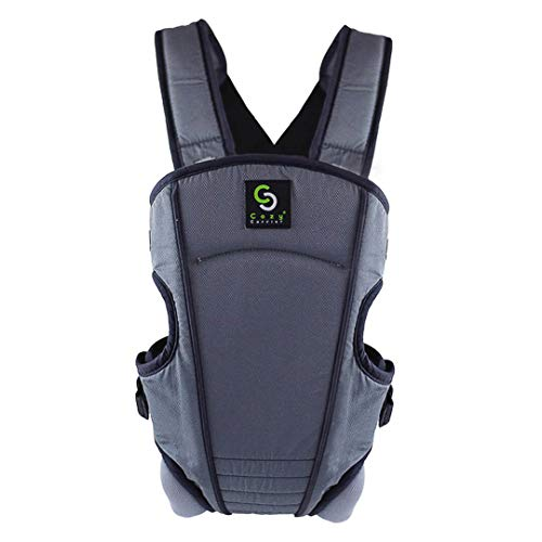 Cozy 4-in-1 Convertible Baby Carrier Grey – The Ergonomic Infant Carrier with Additional Padding in The Straps for Your Comfort. Ideal for Newborn to Toddler with 4 Ways to Carry