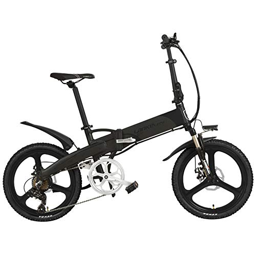 20'' Folding Electric Bike Built-In 48V Lithium-ion Battery, Strong Powerful Motor,Aluminum Alloy Rim & Frame,Disc Brakes,Quick Release (Gray-Black-I, 500W 14.5Ah,LCD Meter, Plus 1 Extra Battery) (Best Hardtail For 500)