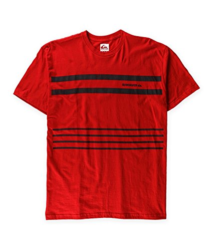 Quiksilver Mens Riviera MT4 Slim Graphic T-Shirt, Red, Small