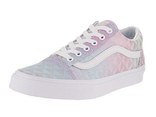 Vans Unisex Old Skool (Rainbow Geo) Rainbow Geo/True White Skate Shoe 6 Men US / 7.5 Women US