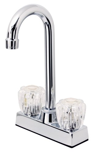 Hardware House 124997 2-Handle High Rise Bar Faucet, Chrome