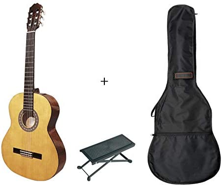 Pack Santos Y Mayor 9B-LH - Guitarra clásica 4/4 zurdos + funda + ...