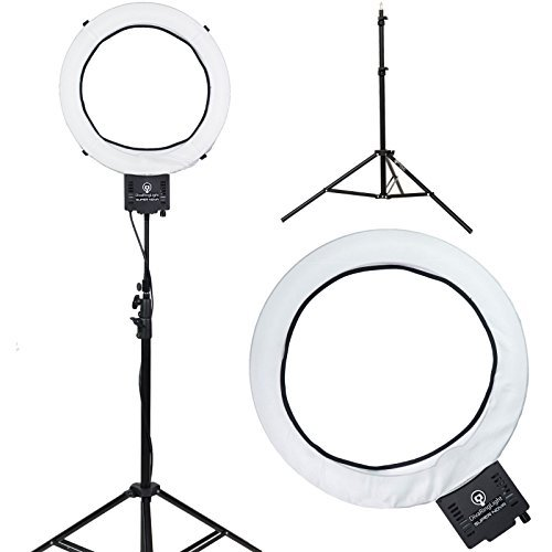 Diva-Ring-Light-Super-Nova-18-Dimmable-PhotoVideo-Light-with-6-Light-Stand