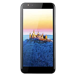 """Unlocked Smartphone,5.5"""" Ultrathin Android6.0 Octa-Core 512MB+4GB GSM 3G WiFi Dual SIM Camera Mobile Phone Cell Phone (Black)"""