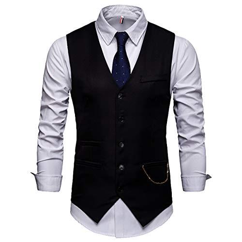 Euow Petit Noir Gilet D'affaires Costume Homme znSf7z