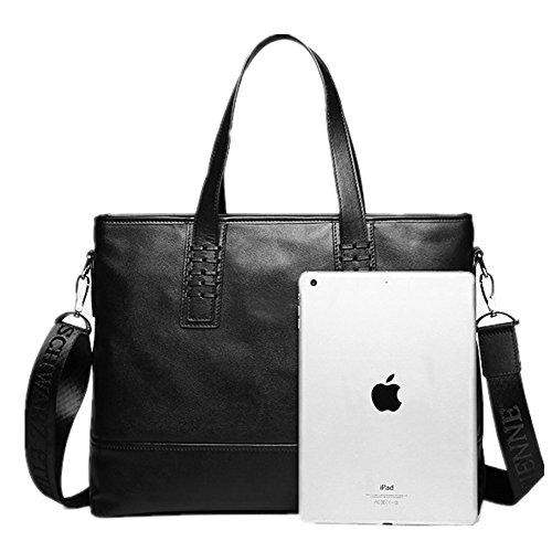 Briefcase Business Bag Leather For Handbag Men Suitable Casual Leather Vintage Notebook Computer Business Bag Satchel Bag Qi Men's 5UxzqgwX
