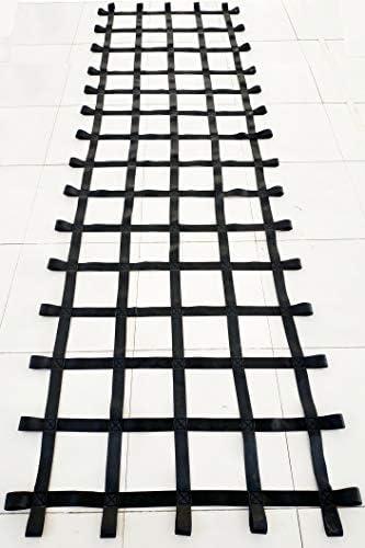 FONG 12 ft X 4 ft Climbing Cargo Net Black 144 inch x 48 inch – Playground Cargo Net – Climbing Net for Swingset – Indoor Climbing Net – Climbing Ladder