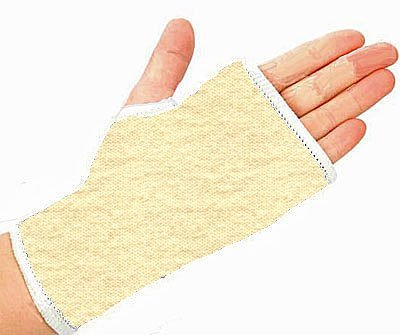 2 x universal fitting elasticated white wrist and hand support -