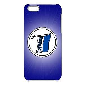 3D Unique Creative Hertha Berliner Sport Club Berlin Phone Case for Iphone 5c Lightweight Cover Case Hertha BSC Berlin Logo