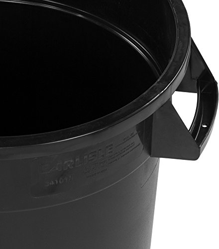 Carlisle 34101003 Bronco Round Waste Container Only, 10 Gallon, Black by Carlisle (Image #2)