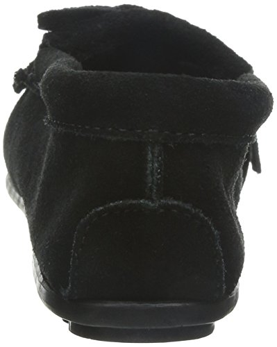 Minnetonka Black Moccasin Suede Women's Kilty rqxnHrg