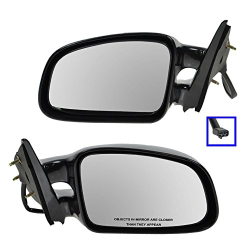Black Power Side View Mirrors Left & Right Pair Set for 99-03 Pontiac Grand Am