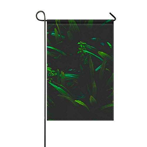 Mo Shadow Grass - JiaoL Garden Flag Leaves Grass Shadows 12x18 Inches(Without Flagpole)