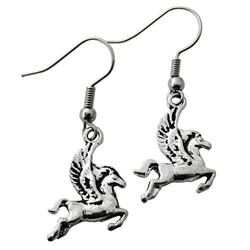 Pegasus Silver Dangle -