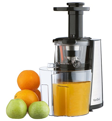 Slow Juicer Vs Extractor : Product review for vonShef 150W Slow Masticating Single Auger Juicer Extractor Yields more ...