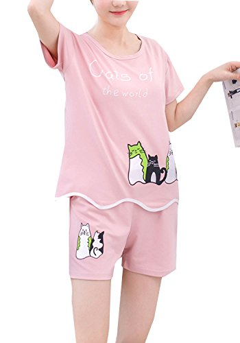 Big Girls Soft Summer Pajama Set 2 Piecs 8-14Years by Leisure Home