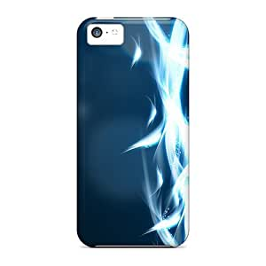 LJF phone case Hot Style WCkFYBj3105UnsWV Protective Case Cover For Iphone5c(experimental Fire)