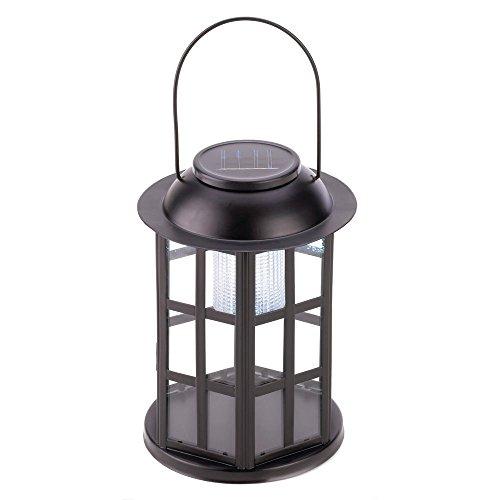 NEW Vintage Outdoor Garden Decor Old Fashion Crystal Solar Carriage Bulb Lantern