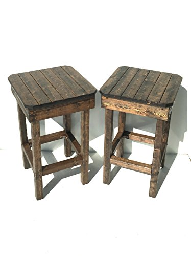 Rustic Bar Stools/Vintage Bar Stools/Farmhouse Bar Stools/Custom Height Bar Stools/Custom Color Bar Stools