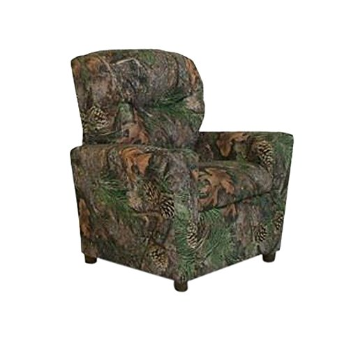 Dozydotes Child Recliner with Cup Holder Camouflage Green - True Timber DZD9755 by Dozydotes