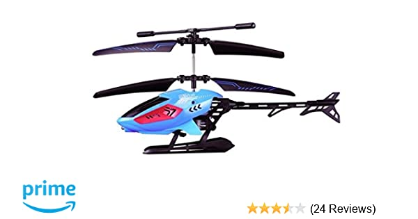 Sky Rover - Zenon RC Helicopter Vehicle with Lights and Gyro, Blue