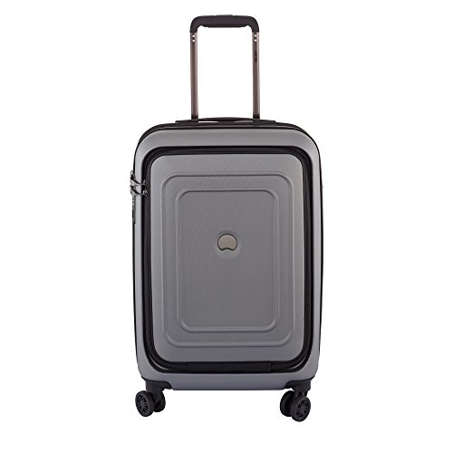 Delsey Luggage Cruise Lite Hardside 21'' Carry on Exp. Spinner with Front Pocket, Platinum by DELSEY Paris