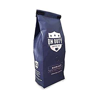 On Duty Strong, Aromatic Medium Roast Ground Coffee in Stay Fresh Bag with Valve, 1 lb | Made from 100% Fresh Arabica Beans