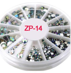 Nail Art Accessories - Rhinestones For Nails Rhinestones For Crafts - 3D Nail Charms s/2-4.7mm Rhinestone in Wheel Design Stone Decorations Strass Jewelry DIY Nail art Adhesive Rhinestones Mix - 14 for $<!--$10.32-->
