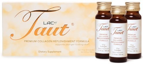 Taut Premium Collagen Replenishment Formula (Box of 8 Bottles, 1.7 Oz Each) by LAC