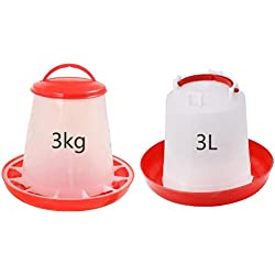 LiPing MEDIUM RITE FARM PRODUCTS Chicken Feeder kit 1.6 GAL & 6.6LB WATERER & FEEDER CHICKEN POULTRY (A)