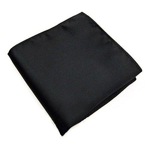 Shuohu Fashion Men Silk Satin Handkerchief Pocket Square Hanky Plain Solid Wedding by Shuohu (Image #1)