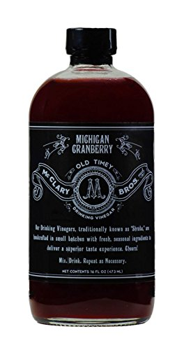McClary Bros- Michigan Cranberry- Handcrafted Drinking Vinegars- For Cooking, Craft Sodas and Shrub Cocktails