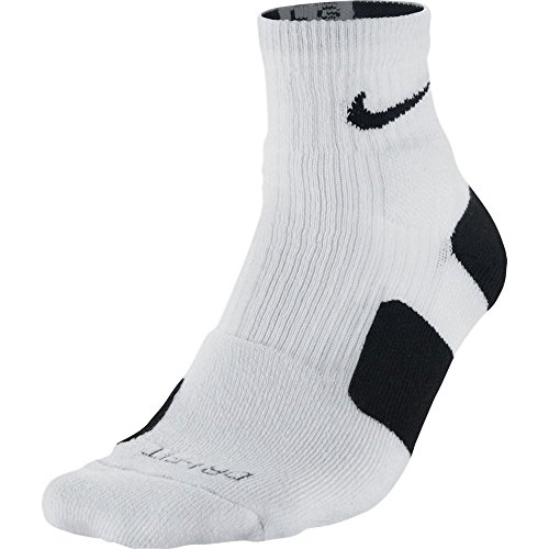 Nike Men's Elite High Quarter Basketball Socks, White/Black, SM (Women's Shoe 4-6)