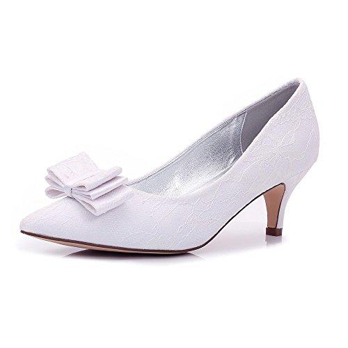 Chaussures Heels Stopper Bout Chaussures Talons Haut Femmes Pointu blanc Hauts Talon Mariages Zxstz ng8HcqWg
