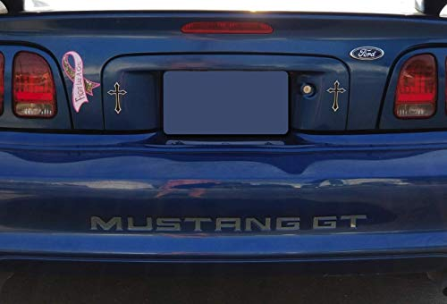 (BDTrims Bumper Plastic Letters Inserts fits 1994-1998 Mustang GT Models)