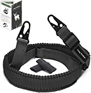 Long Outdeer 2-Point Sling for Rifle, Paracord Gun Sling with Quick-Adjust Length Strap and Metal Sling Snap H