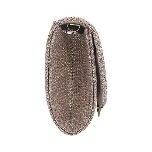 Party Evening Wedding Wocharm Apricot Clutches Elegant Handbag Glitter Box Womens Clutch ERwR5qta