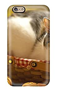 Cute Appearance Cover/tpu DttSkfG821YNiag Cat In A Basket Animal Cat Case For Iphone 6